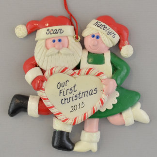 Our First Christmas Mr. and Mrs. Santa Ornament