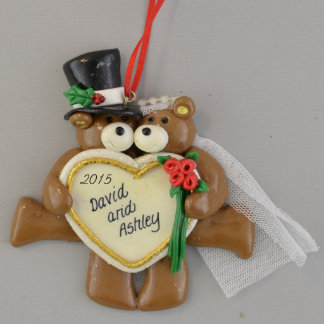 Bride and Groom Personalized Wedding Ornament