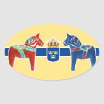 Sweden Dala Coat of Arms Oval Sticker