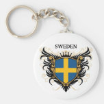 Sweden [personalise] basic round button key ring