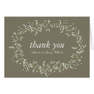Sweet Baby's Breath Thank You Cards