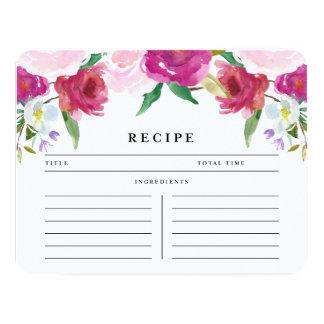 Sweet Country Rose   Recipe Card 11 Cm X 14 Cm Invitation Card