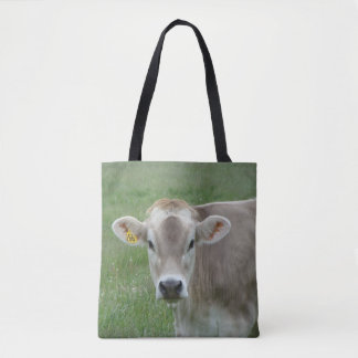 Sweet Face Jersey Cow Tote Bag