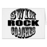 Swim Coaches Rock Gift Greeting Card