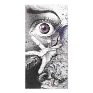"""Swim"" eye surreal drawing Photo card"
