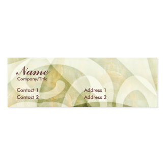 SWIRLCURLS PROFILE CARD PACK OF SKINNY BUSINESS CARDS