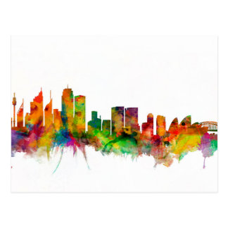 Sydney Australia Skyline Postcard