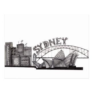 Sydney in tangles postcard