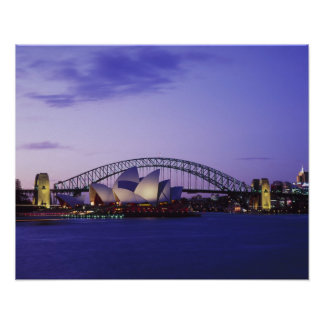 Sydney Opera House and Harbour, New South 2 Poster
