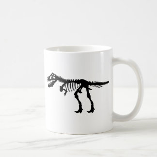 T Rex Dinosaur Skeleton Basic White Mug