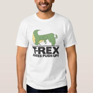 T-Rex hates pushups shirt. Tees