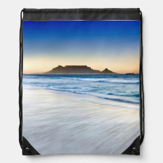 Table Mountain Across Table Bay Drawstring Backpack