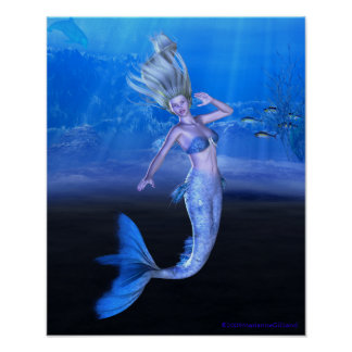 Take My Hand and Follow Your Heart Mermaid Art Poster