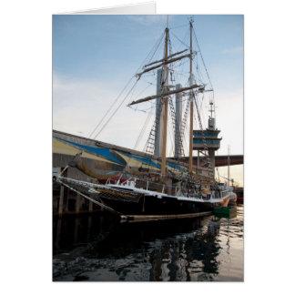 Tall Ship on water sailing boat Dunrobin studios Greeting Card