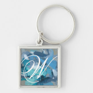Tangled Silver-Colored Square Key Ring