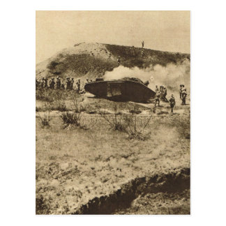 Tank in the Somme, France Postcard