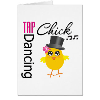 Tap Dancing Chick 2 Greeting Card