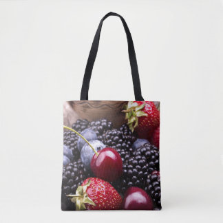 Tasty Summer Fruits On A Wooden Table Tote Bag