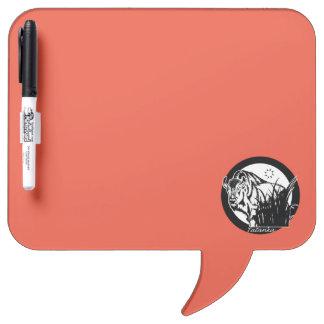 Tatanka (Buffalo) Black & White On Orange/Red Dry Erase Board