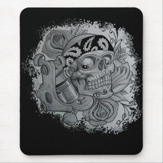 tattoo skull mouse pad