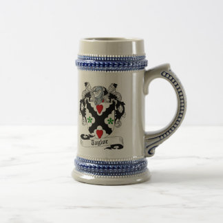 Taylor Coat of Arms Stein - Family Crest Beer Steins