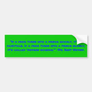 Te Frog Prince Bumper Sticker