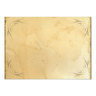 Tea Stained Vintage Wedding 1 - Table Number Names 11 Cm X 16 Cm Invitation Card