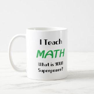 Teach math basic white mug