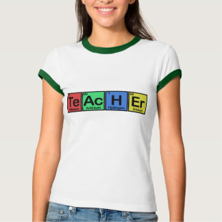 Teacher made of Elements colors Shirts