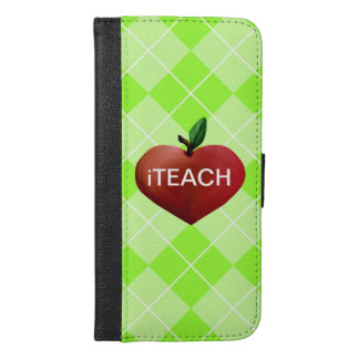 Teacher's Heart Apple iPhone 6 Plus Wallet Case