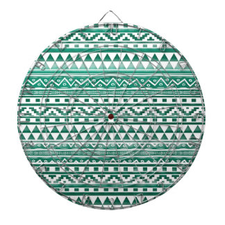 Teal Watercolor Abstract Aztec Tribal Print Pattrn Dart Boards