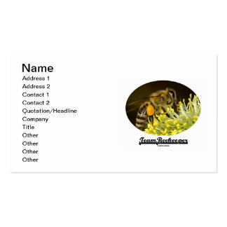Team Beekeeper (Bee On Yellow Flower) Pack Of Standard Business Cards