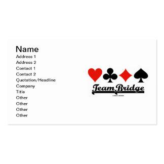Team Bridge (Bridge Attitude Four Card Suits) Pack Of Standard Business Cards