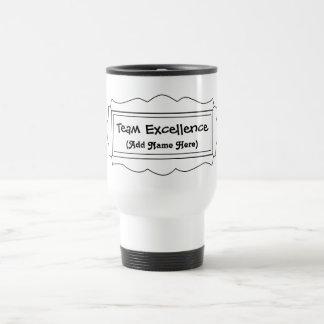 """Team Excellence"" Stainless Steel Travel Mug"