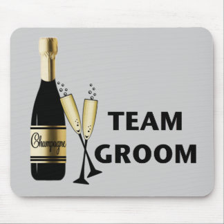 Team Groom (champagne) Mouse Pad