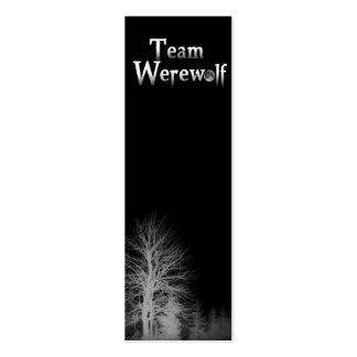 Team Werewolf Skinny Bookmark Pack Of Skinny Business Cards