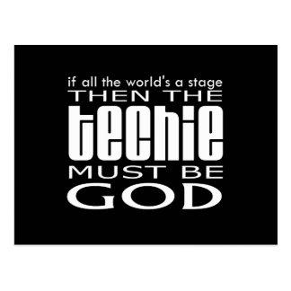 Techie God Postcard