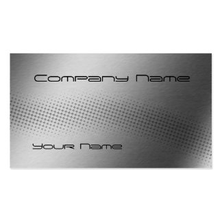 Techno Wave - steel Pack Of Standard Business Cards