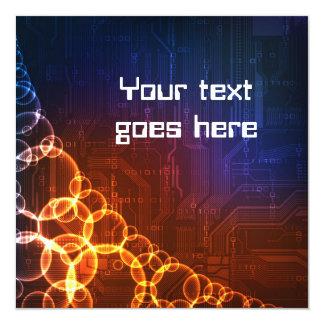Technology style design invitation