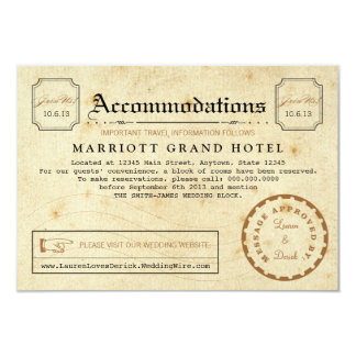 Telegram Hotel Accommodation Travel Insert Card 9 Cm X 13 Cm Invitation Card