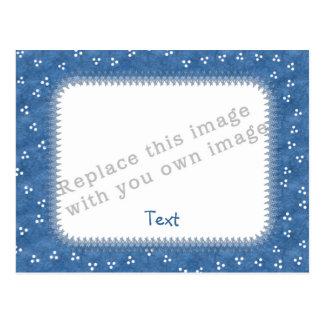 Template Blue Frame Postcard
