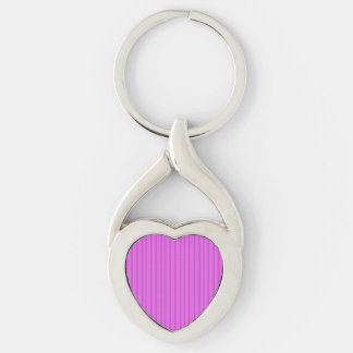 Template DIY KeyChain Add COLOR TEXT IMAGE PINK Silver-Colored Twisted Heart Key Ring