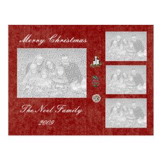 TEMPLATE - Holiday Photo Card Postcard