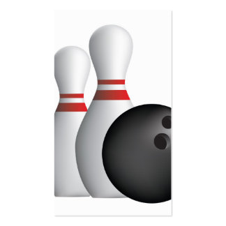 ten pin bowling pack of standard business cards