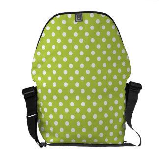 Tender Shoots Green Polka Dot Pattern Courier Bag