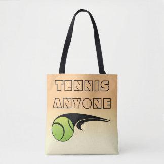 TENNIS ANYONE TOTE BAG
