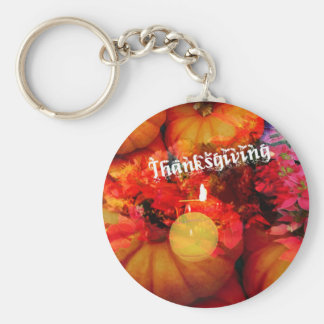 Tennis , candle and pumpkins basic round button key ring
