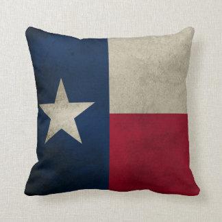 Texas Grunge- Lone Star Flag Throw Cushions