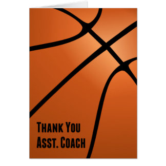 Thank You Assistant Basketball Coach for Hard Work Greeting Card