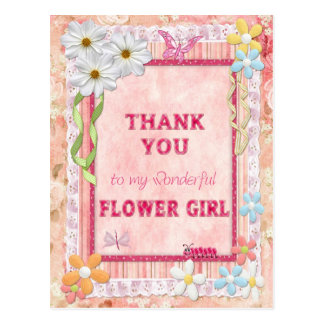 Thank you Flower Girl, flowers craft card Postcard